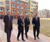 صور| نائب وزير التعليم يتفقد المدرسة الدولية الرسمية بشرق مدينة نصر