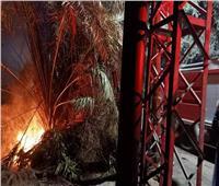 السيطرة على حريق أسفل برج «ضغط عال» في طوخ