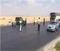 المرور تراقب حركة السيارات بالطرق أثناء الشبورة وتنشر سيارات الإغاثة