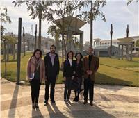 مسئول البرامج الثقافية بمكتب اليونسكو تزور المتحف القومي للحضارة المصرية