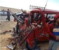 ننشر صور حادث انقلاب سيارة الأطباء بـ«دائري حلوان»