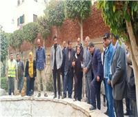 نائب محافظ القاهرة يتفقد تطوير «شجرة مريم» بالمطرية