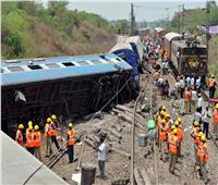 40 مصابًا في حادث مروع لقطارين بالهند