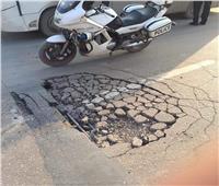 انهيار بلاطة خرسانية بكوبري محرم بك في الإسكندرية