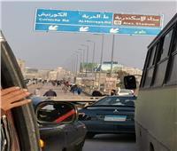 بالصور| غلق كوبري محرم بك جزئيا في الإسكندرية لإصلاح الهبوط