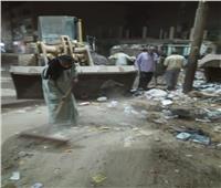 رفع أكوام القمامة والمخلفات من مختلف شوارع مركز القوصية