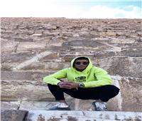 صور.. أشرف بن شرقي يزور الأهرامات