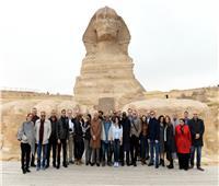 «المشاط» ووفد البنك الدولي بجولة في الأهرامات والمتحف المصري الكبير