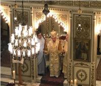 بطريرك الروم الكاثوليك يزور كنيسة سيدة البشارة بشبرا