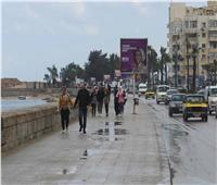 استمرار هطول الأمطار على سواحل الإسكندرية بالتزامن مع «الفيضة الكبرى»