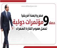 إنفوجراف| مصر واجهة إفريقيا.. «حصاد» 9 مؤتمرات دولية تحمل هموم القارة