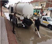 أمطار غزيرة على المدن الساحلية بشمال سيناء