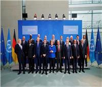 الرئيس السيسي وقادة الدول يلتقطون صورة جماعية في مؤتمر برلين