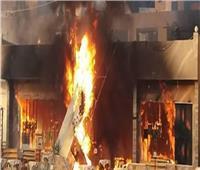 مصرع شاب إثر نشوب حريق بإحدى المحلات في الغربية