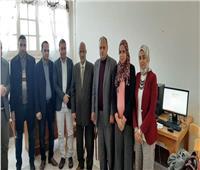 امتحانات الأزهر  بدء التصحيح الإلكترونى بالدراسات الإسلامية والعربية للبنين بالزقازيق