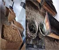 ضبط 10 طن معسل غير صالحة للاستهلاك داخل مصنع بالإسكندرية