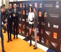 ياسمين رئيس وزوجها في العرض الخاص لفيلم «لص بغداد»