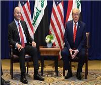 الرئيس العراقي يبحث مع ترامب خفض القوات الأجنبية خلال اجتماع في دافوس