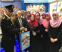 صور| جولة لواعظات الأزهر داخل جناحي الدفاع والشرطة بمعرض الكتاب