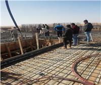 الإسكان: بدء صب الخرسانة لأسقف الدور الأرضي بمشروع «JANNA» بمدينة ملوي