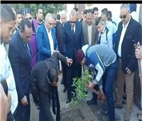 محافظ القليوبية يشارك الشباب «زراعة أول شتلات الأشجار» ببنها