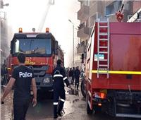 السيطرة على حريق في معرض موبيليا بصلاح سالم