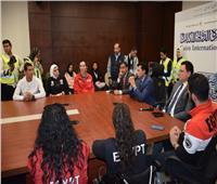 أشرف صبحي في حوار مفتوح مع الشباب بمعرض القاهرة الدولي للكتاب