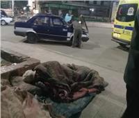 فريق التدخل السريع ينفذ مسنة مريضة بلا مأوى في سوهاج