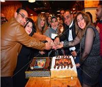 صور| شريف باهر وبدرية طلبة يشاركان في حفل بأحد كافيهات مدينة نصر