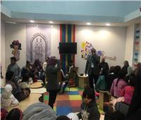 صور| إقبال كثيف على ركن الأطفال بجناح الأزهر في معرض الكتاب