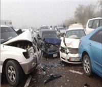 إصابة ٧ أشخاص فى تصادم بطريق دمنهور دسوق