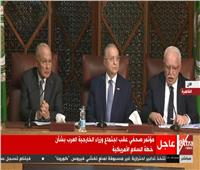بث مباشر| مؤتمر صحفي عقب اجتماع وزراء الخارجية العرب بشأن خطة السلام الأمريكية