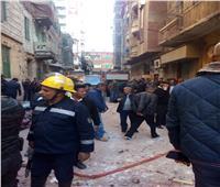 بالصور| إصابة شخص في انهيار عقار بالإسكندرية.. وإخلاء آخر مجاور له