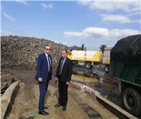 نائب محافظ الغربية يتابع نقل تراكمات القمامة بالمحلة