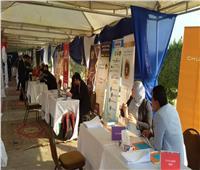 صور| الاستعدادات لافتتاح ملتقى التوظيف الأول بالقاهرة