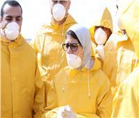 في ظل إجراءات وقائية مشددة.. وزيرة الصحة تستقبل المصريين القادمين من الصين