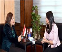 وزيرتا التخطيط والتنمية الاقتصادية والتعاون الدولي يبحثان سبل التعاون