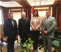 وزيرة الهجرة تستقبل رئيس الجمعية اليونانية المصرية بالقاهرة
