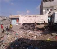 رفع 10 طن مخلفات في حملة لأعمال النظافة بمنطقة الأشغال بسفاجا