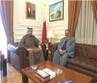 سفير البحرين يستقبل الأمين العام المساعد للأمن القومي بجامعة العربية