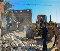 تنفيذ 19 قرار إزالة للتعديات بحوض الـ3000 فدان في بحيرة مريوط