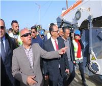 صور| وزير النقل يتابع تطوير طريق «بركة السبع/قويسنا/ شبين الكوم»