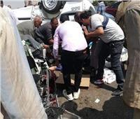 مصرع سيدة وإصابة 4 أشخاص في حادث سيارة بالإسماعيلية