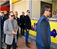 بالصور| الرئيس السيسي يتفقد أعمال التطوير بمنطقة عزبة الهجانة