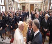 البابا فرنسيس يستقبل مسؤولي وعناصر الشرطة المكلفين بتأمين الفاتيكان