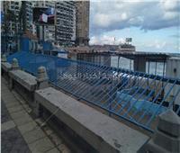 بالصور|السياحة والمصايف بالإسكندرية: السور المائل بشاطئ جليم لحماية الرواد