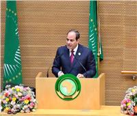 صور| السيسي يقترح قمة أفريقية بمصر لإنشاء «قوة مكافحة الإرهاب»