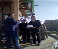خالد العناني يتفقد أعمال تطوير ميدان التحرير