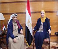 القباج تستقبل مدير الهلال الأحمر الإماراتي لبحث سبل التعاون المشترك