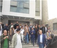 جمال وشعيب يتفقدان المشروعات التنموية على الحدود المصرية الغربية